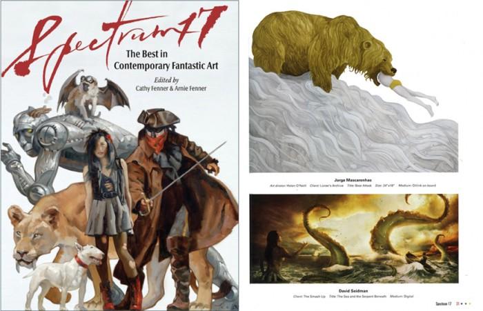 levy creative management, jorge mascarenhas, spectrum 17, fantasy art, illustration, bears