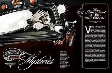 levy creative management, kako, minnesota monthly, sheriff val johnson, mystery, illustration