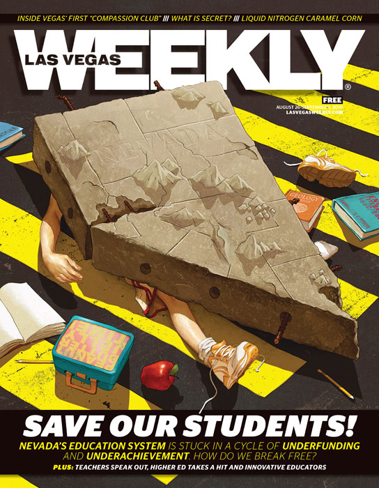 levy creative management, illustrator rory kurtz, las vegas weekly, nevada school system, cover illustrator, artist