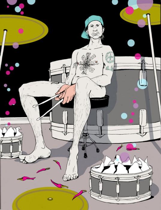 levy creative management, mike byers, drummer, illustration