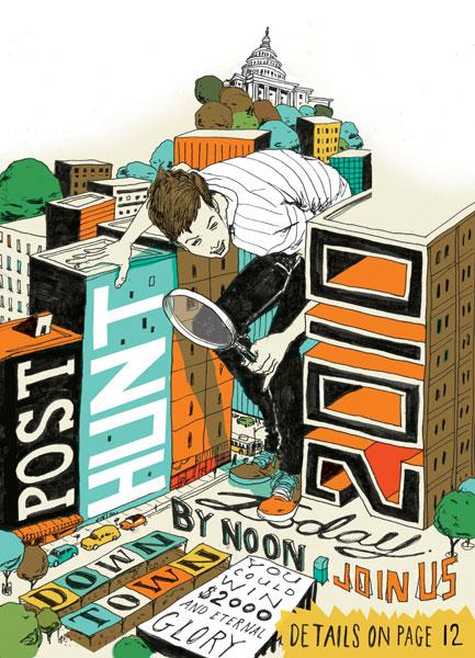 levy creative management, mike byers, scavenger hunt, illustration